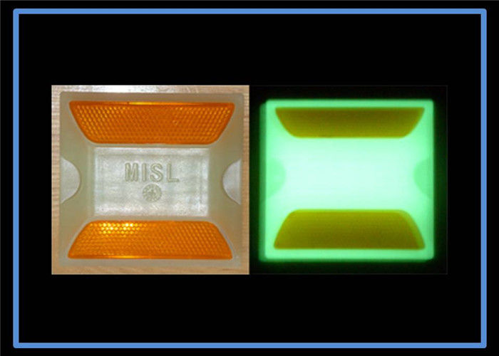 Protection Roadway Plastic Road Studs Gloe In The Dark / luminescent high visible